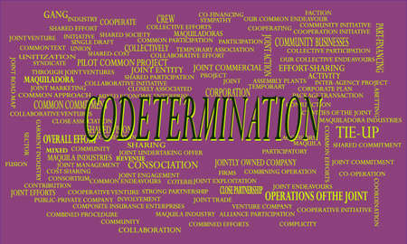 Code termination a business related terminology created on word cloud abstract background for commercial education purpose. Иллюстрация