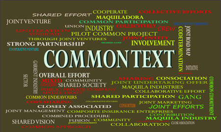 Common text a business related terminology created on word cloud abstract background for commercial education purpose.