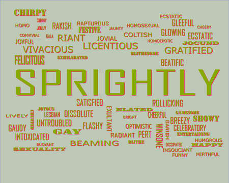 Sprightly word presents human love relation displayed on education text cloud illustration background.