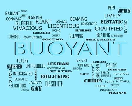 Buoyant word related with people loving symbol presented on similar word cloud abstract text background. Stock fotó