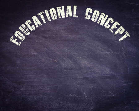 Educational concept word presented on chalkboard abstract digital written black background.