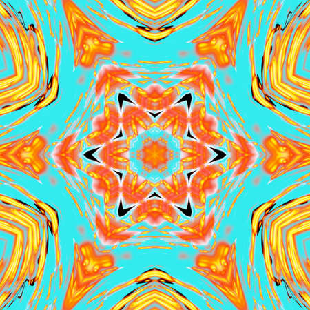 Abstract geometric background with orange yellow cells for design. Bright gold digital illustration with polygons on a dark background.