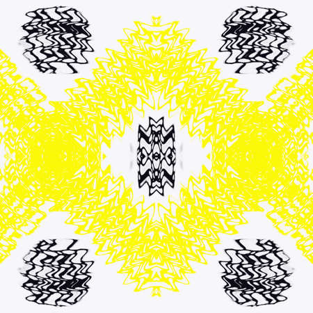 Fractal abstract background. Light effects. yellow Neon glow. Festive decoration. Colorful pattern. Geometric texture.