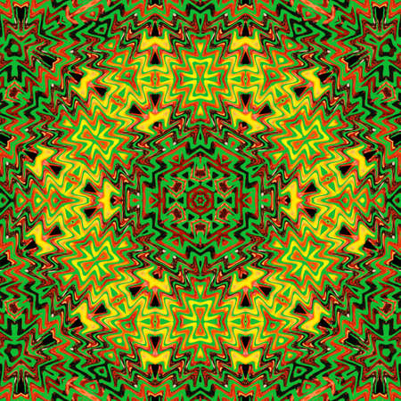 Abstract geometric green background with triangular golden cells for design. Bright gold digital illustration with polygons on a dark background. Banque d'images