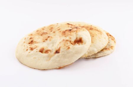 naan, nan bread isolated on white background