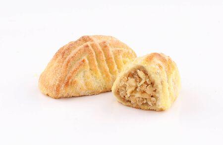 arabic oriental cookies nut juz maamoul isolated on white background Zdjęcie Seryjne