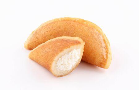 qatayef Ramadan Traditional Sweets white cheese isolated on white background Zdjęcie Seryjne