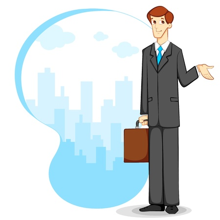Businessman with Briefcase Stock Vector - 12438105