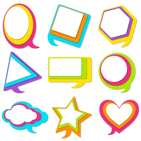 Colorful Chat Bubble Vector