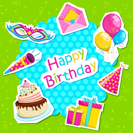Birthday Card Stock Vector - 12438113