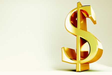 earn money: Golden Dollar Symbol Stock Photo