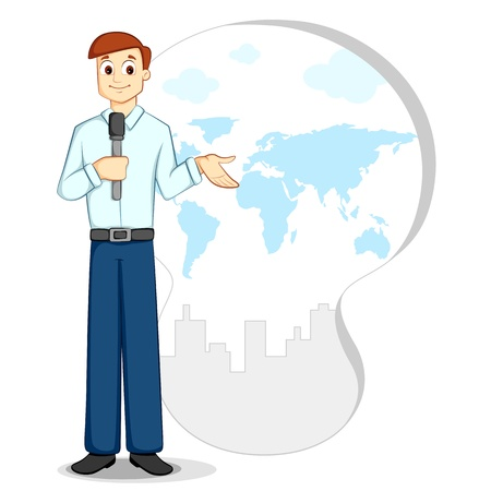Vector Journalist Stock Vector - 12497354