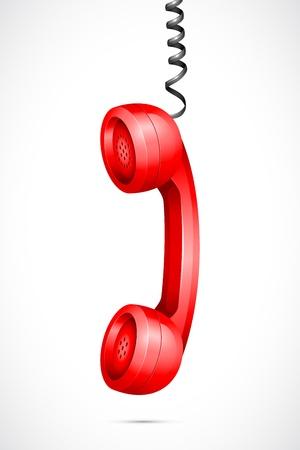 cable telefono: Vector Teléfono Colgando receptor