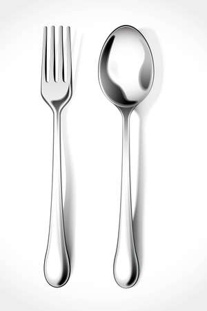 Fork and Spoon Stock Vector - 12497369