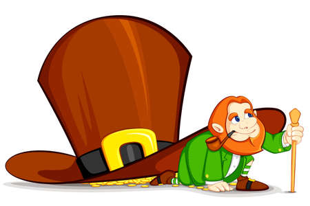 Leprechaun under Hat Vector