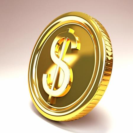 Dollar Gold Coin photo