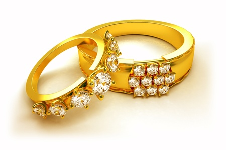 jewellery: Gold Engagement Ring