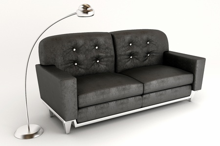 lounge room: 3d Sofa with Lamp