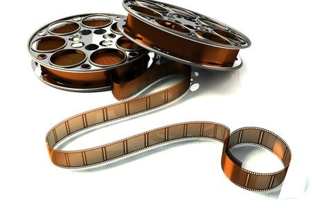 3d Film Reel Stock Photo