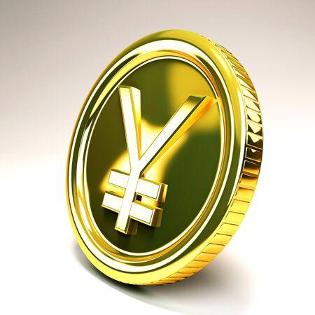 Yen Gold Coin Stock Photo - 12914163
