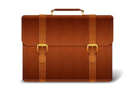 packing suitcase: Cartella in pelle