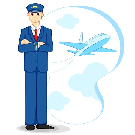 Airplane Pilot Illustration