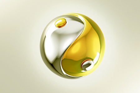 Gold and Silver Yin Yang photo