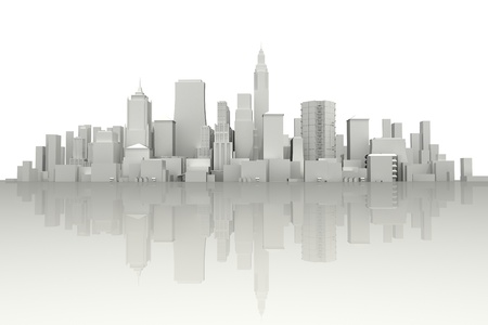 new york city panorama: 3d City Scape