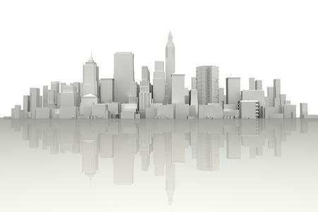 3d City Scape photo