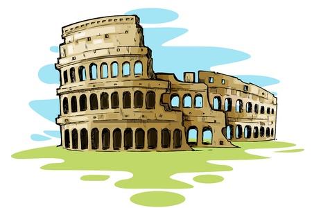 columnas romanas: Coliseo de Roma