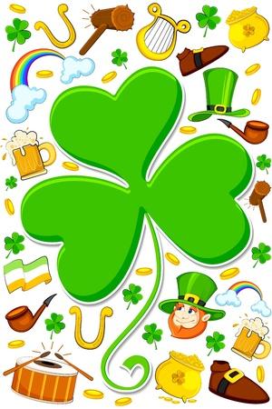 Saint Patrick s Day Wallpaper Stock Vector - 12914536