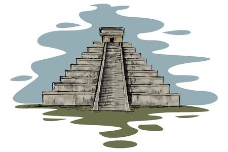 archaeological: Chinhen Itz� Vectores