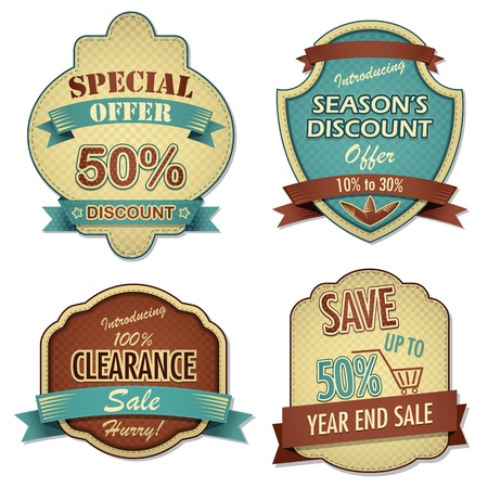 Vintage Sale Label Stock Vector - 12997884