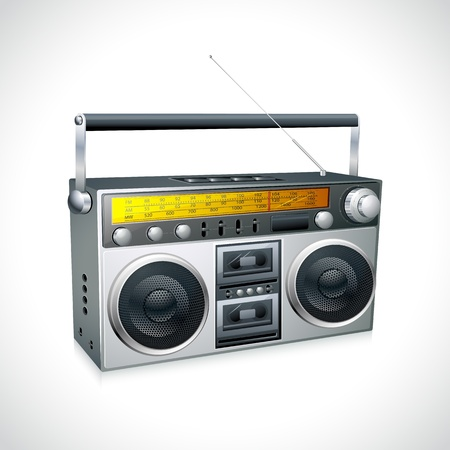portable player: Vintage Radio