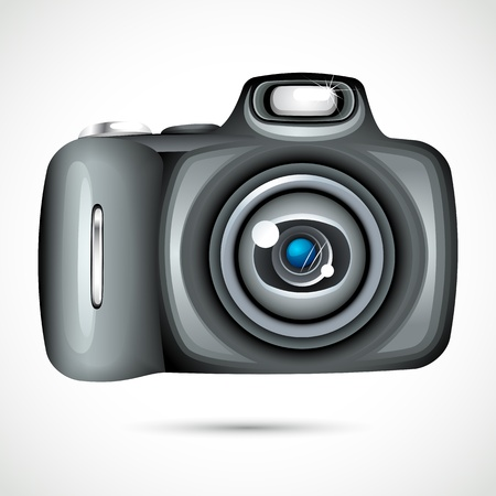 compact camera: Vector Camera Illustration