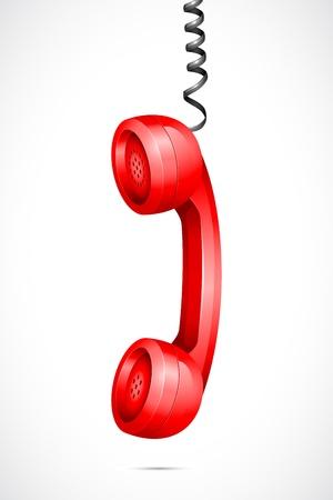 Vector Teléfono Colgando receptor Ilustración de vector