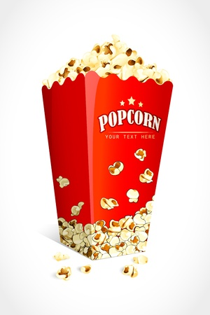 corn kernel: Pop Corn Illustration