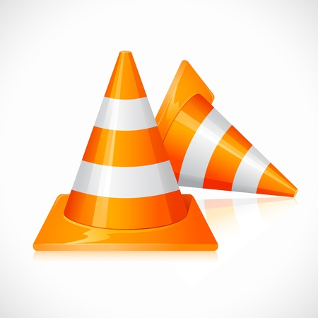 traffic barricade: Under Construction Cones