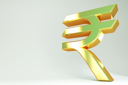 indian money: Golden Dollar Symbol Stock Photo