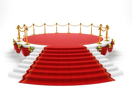 red carpet background: Stage with Rep Carpet