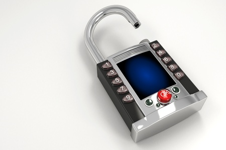 Hi tech Pad Lock Stock Photo - 12999883