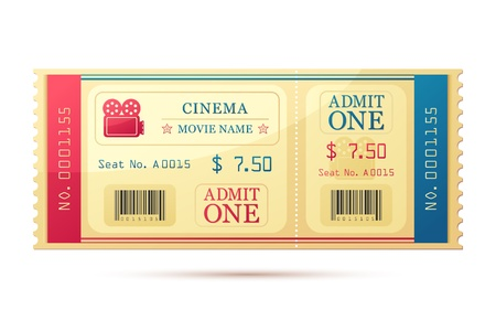 theater seats: Movie Ticket Stock Photo