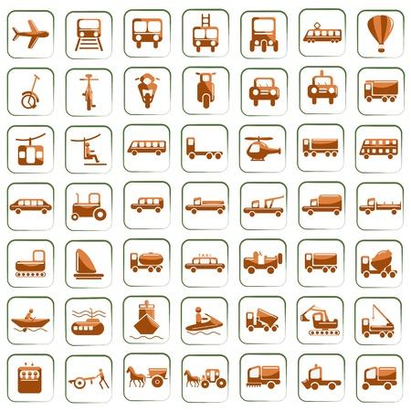 szynach: Åšrodki transportu Ilustracja