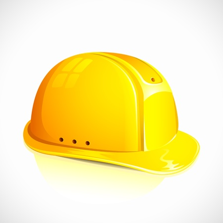 hard hat: vector illustration of hardhat against white background