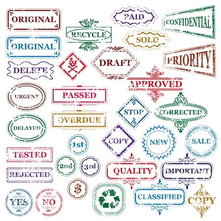 ilustración vectorial de la colección de sello diferente