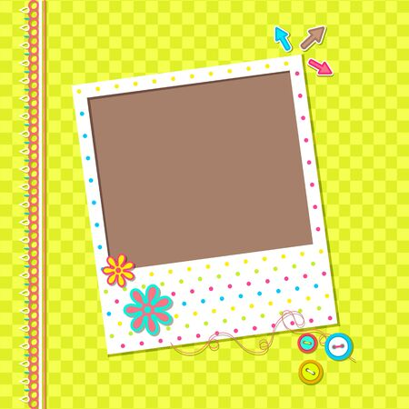 vector illustration of photo frame for scrapbook Vector