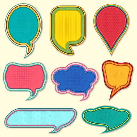 vector illustration of set of colorful speech bubble on isolated background Vector
