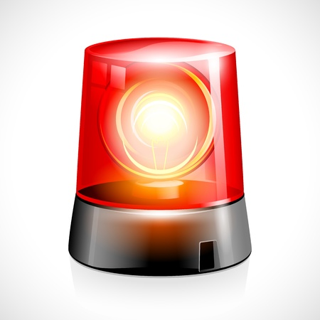 emergency vehicle: illustrazione vettoriale di luce rossa lampeggiante di emergenza Vettoriali