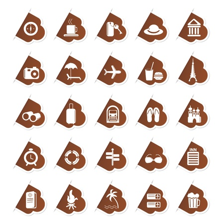 Sticker of Travel Icon Stock Vector - 13246327
