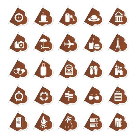 Sticker of Travel Icon Stock Vector - 13246327